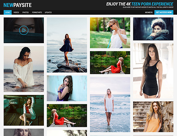 Paysite Template 1